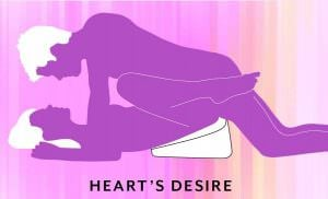 Liberator Heart Wedge Sex Position Heart's Desire