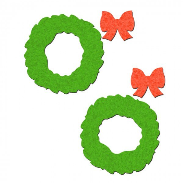 Wreath With Red Bows Pasties
