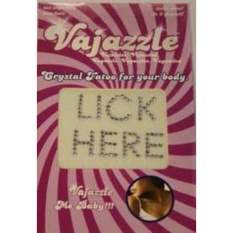 Vajazzle Lick Here