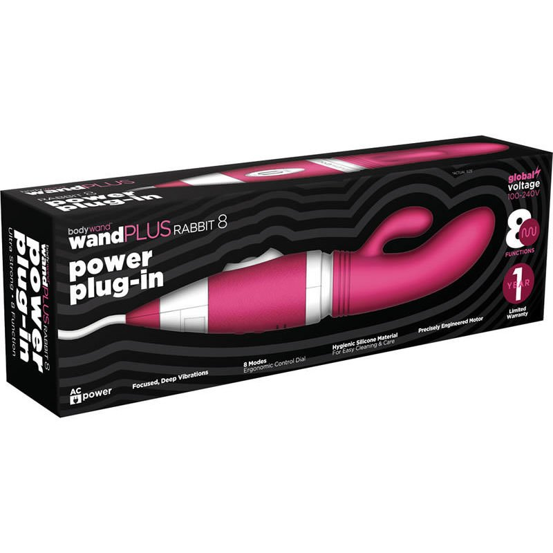 Bodywand Wand Plus Rabbit 8 Power Plug-in Rabbit Vibrator