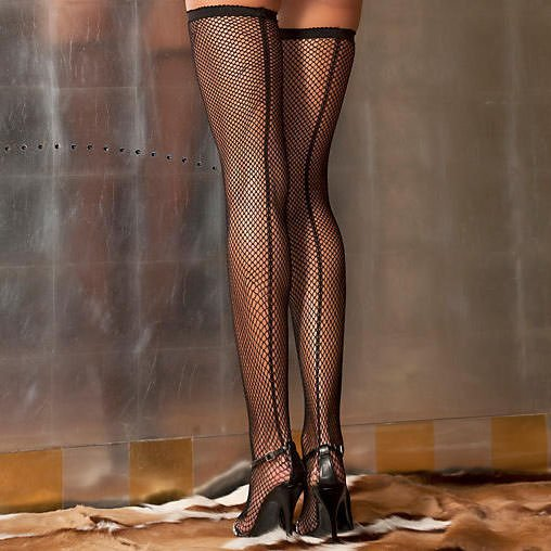 Fishnet Back Seam Stockings