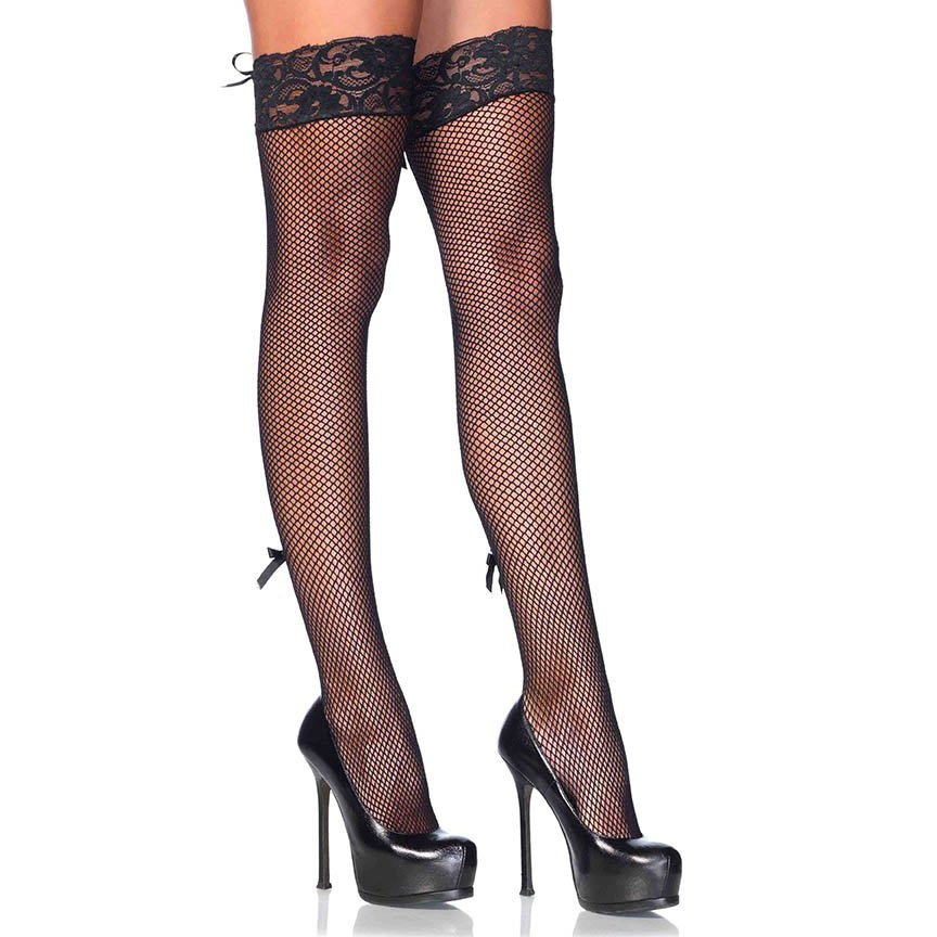 Lace Up Panty and Thigh High Set