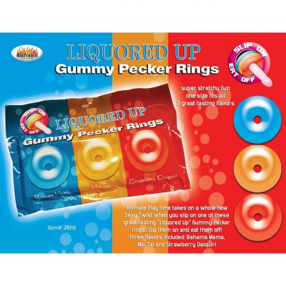 Gummy Edible Candy Pecker Rings