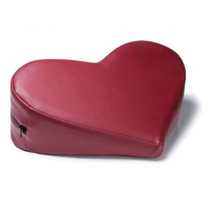 Liberator Heart Wedge - Red Faux Leather