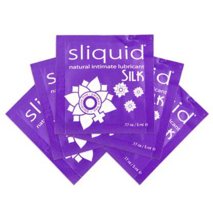 Sliquid Naturals Silk Hybrid Personal Lubricant .17oz Sample Pack