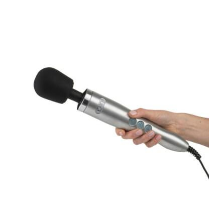 Doxy Die Cast Powerful Wand Massager In Hand Being Held